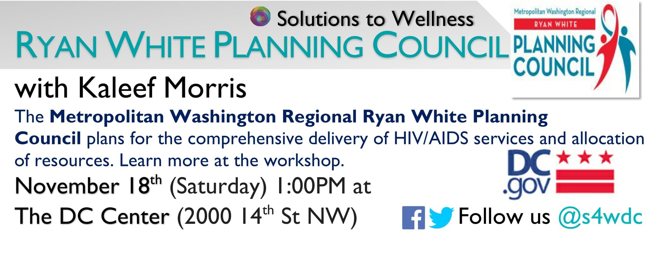 Ryan White Planning Council Workshop [Solutions to Wellness 2017]