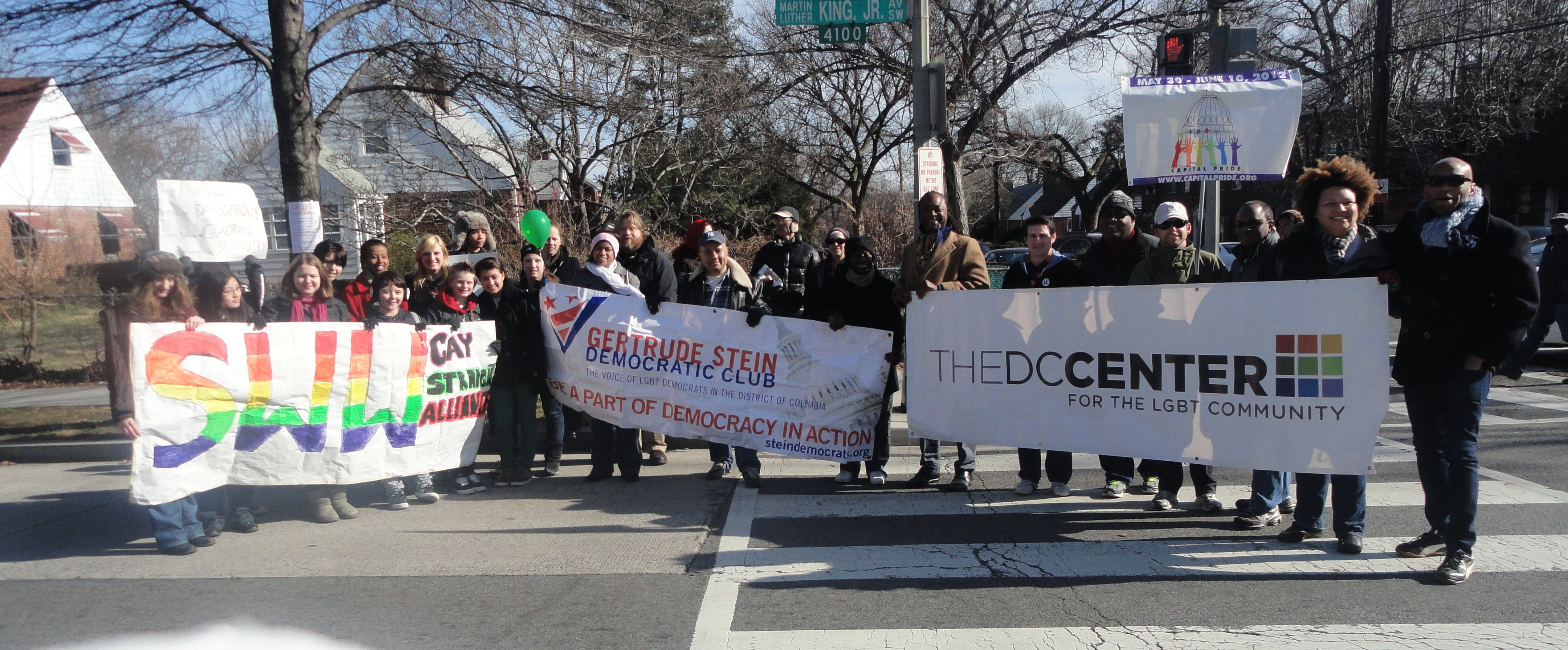 LGBT Contingent at the MLK Holiday Parade