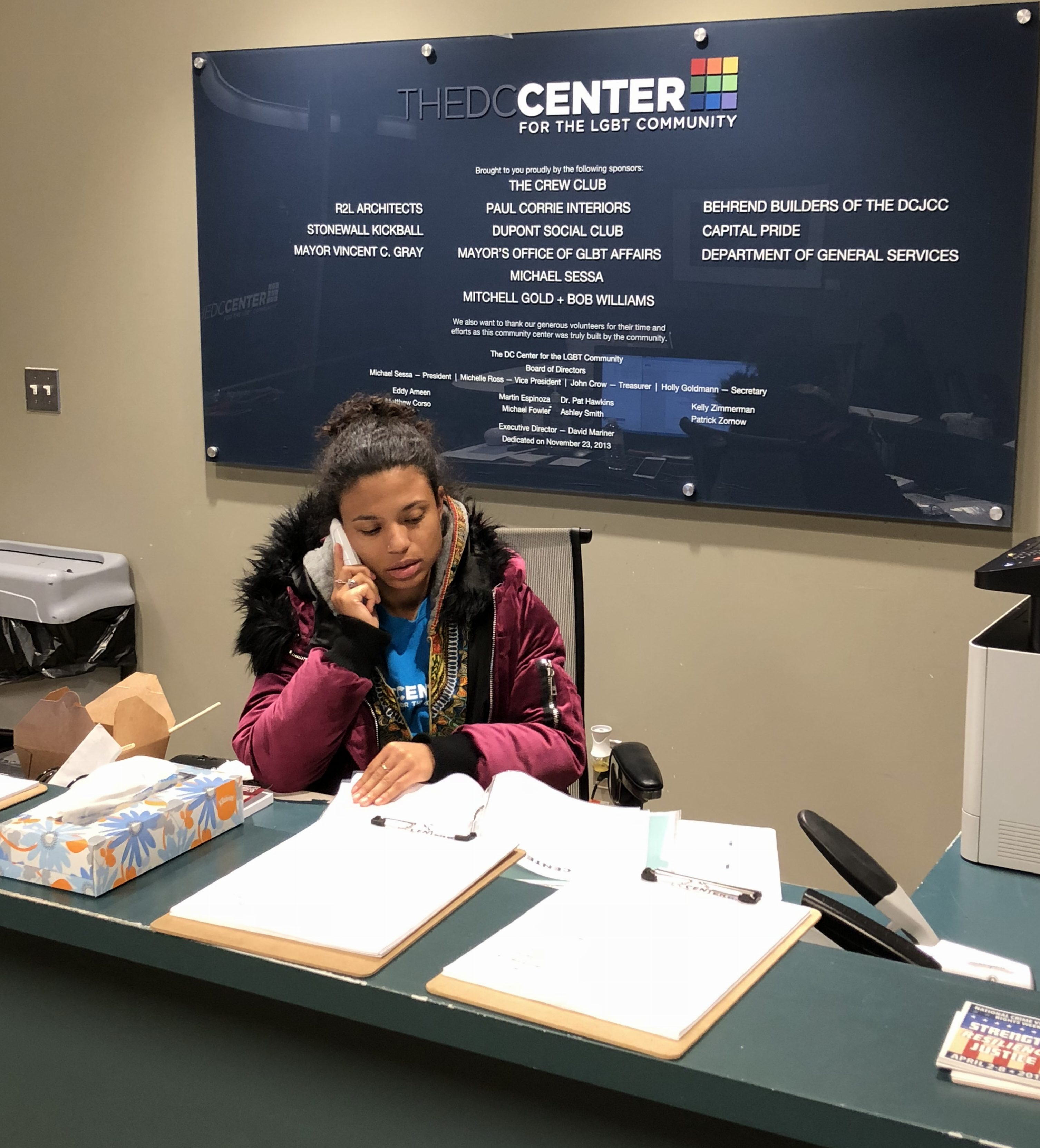The DC Center is looking for Front Desk volunteers!