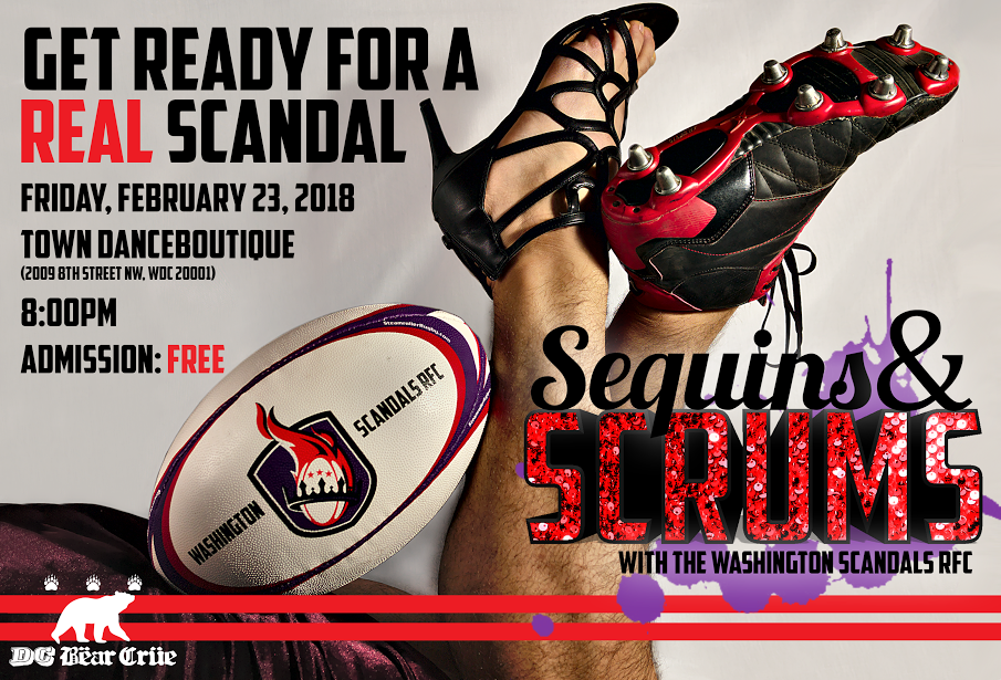 2nd Annual Sequins and Scrums Fundraiser