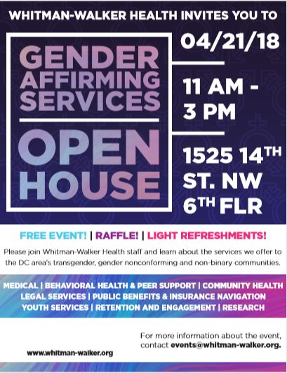 Gender Affirming Services Open House