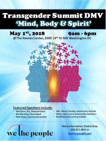 "Transgender Summit DMV ""Mind, Body & Spirit"""