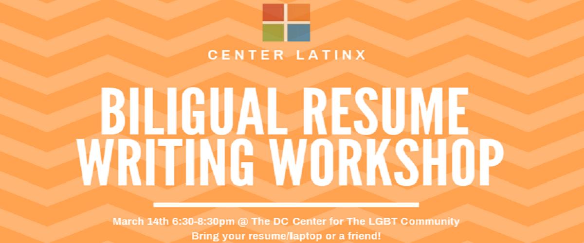 Bilingual Resume writing workshop