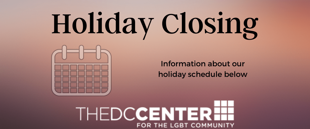 Holiday Closing. Information about our holiday schedule below.