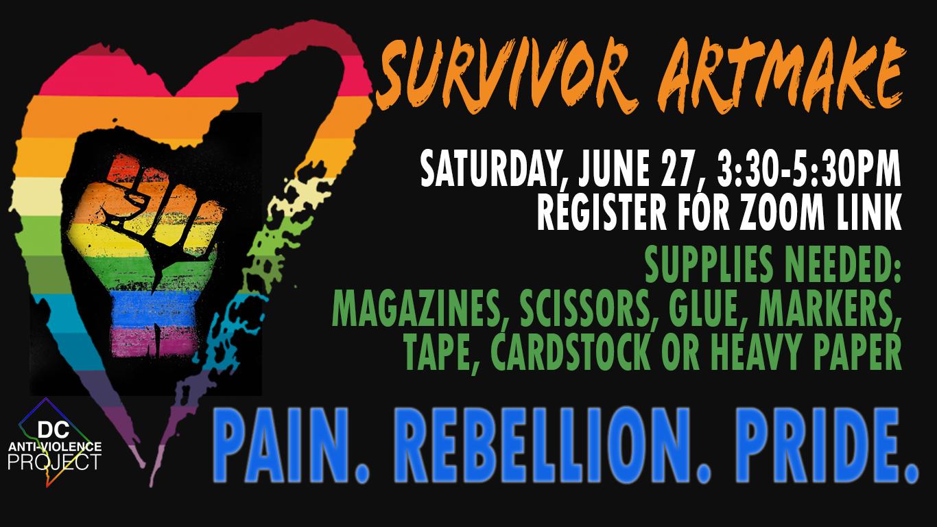 Survivor ArtMake event