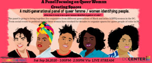 Queer Womxn Creating Spaces - A Virtual Panel