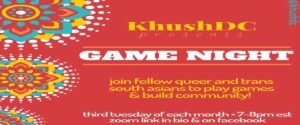 KhushDC Presents Game Night - Via Zoom