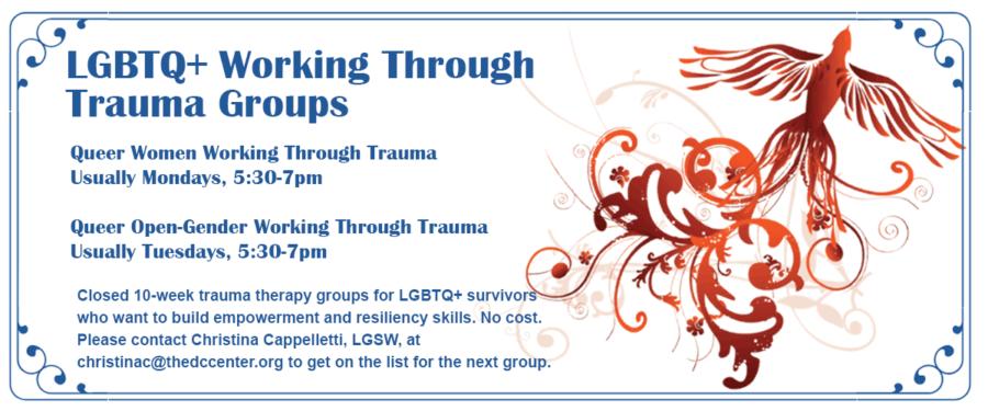 LGBTQ+ Working Through Trauma Groups