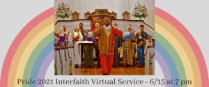 2021 Pride Interfaith Virtual Service Image
